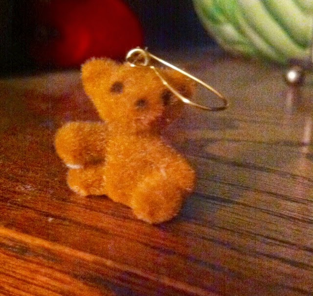teddy bear earring